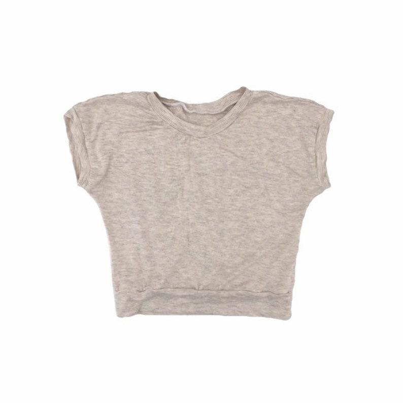 Cream unisex top long sleeve short sleeves