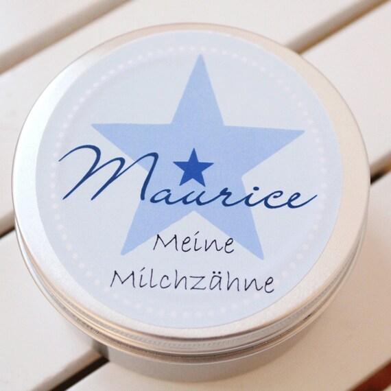 Zahndose mit Namen Milchzahndose mit Namen f/ür M/ädchen Zahndose Milchz/ähne