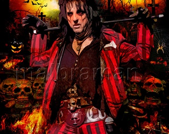 Alice Cooper, Welcome to my Nightmare,  print, poster