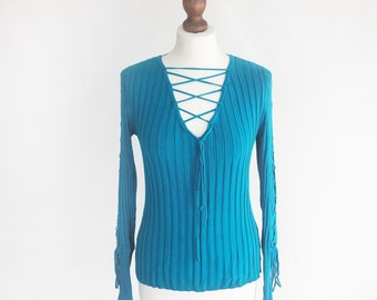 7742ded02e Vintage Turquoise Sweater