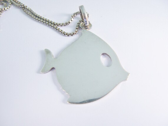 Unsigned Mid-century Sterling Fishes Pendant