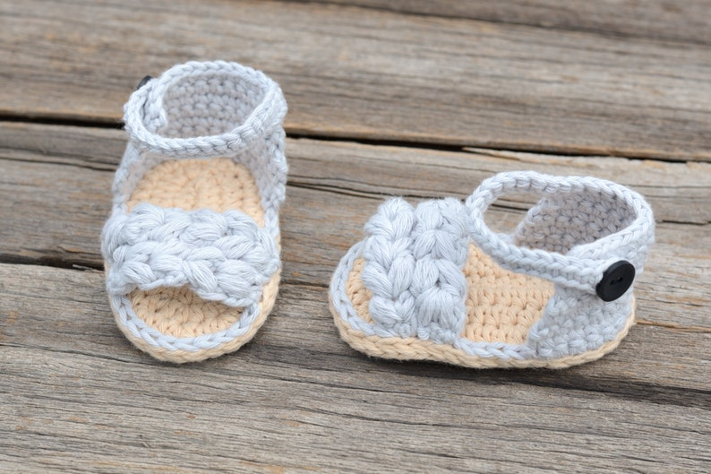 Ava Sandals Gift Crochet Baby Girl Sandals Ready to Ship 0-3 Month Baby Sandals