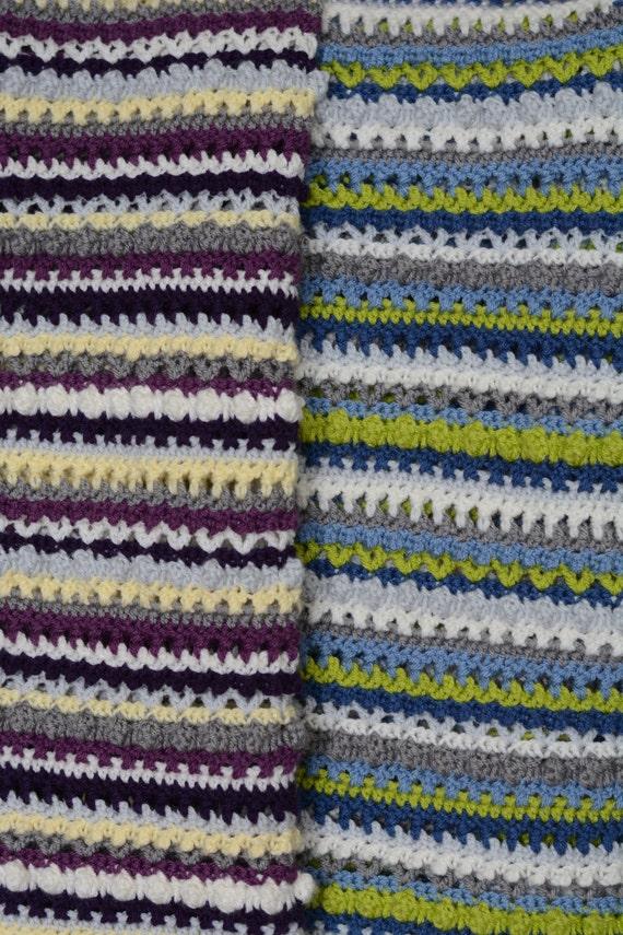 Pdf Pattern Sweet Stripes Baby Blanket Crochet Baby Blanket Etsy