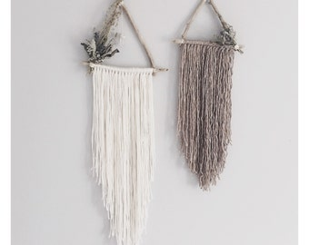 Juniper + Briar Set of 2 triangle crystal wreaths  | boho wallhanging | bohemian decor | macrame