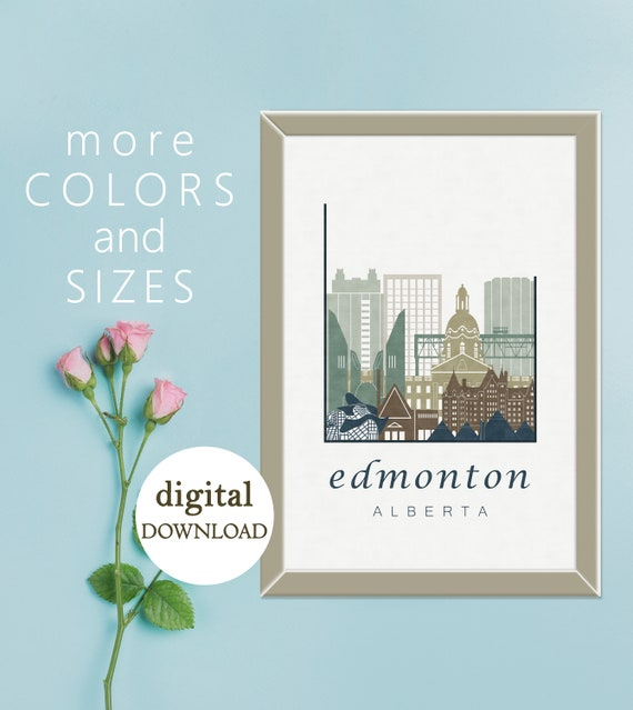 Edmonton Modern Decor Bedroom Canada Office Printable Wall Etsy