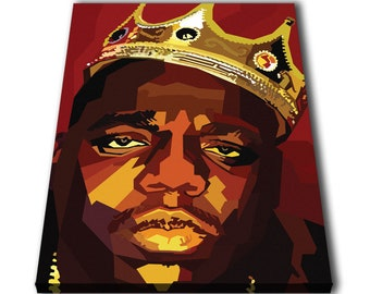 Biggie Notorious BIG Canvas Giclee Print Painting Picture Wall Art Split Canvases Home Decorations Gifts