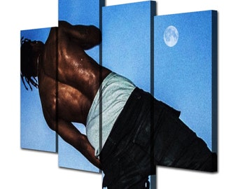 9a56fe860d9f Travis Scott Days Before Rodeo Canvas Material Giclee Print Painting  Picture Wall Art Split Canvases Home Decorations, Gifts