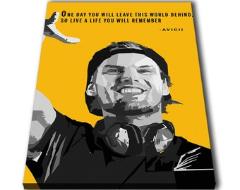 b7dffe2d40a6c Avicii DJ Quotes Canvas Giclee Print Painting Picture Wall Art Split  Canvases Home Decorations