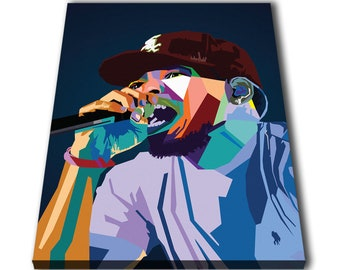 246169bbb3f47 Chance The Rapper Wpap Chancelor Johnathan Bennett Canvas Giclee Print  Painting Picture Wall Art Split Canvases Home Decorations