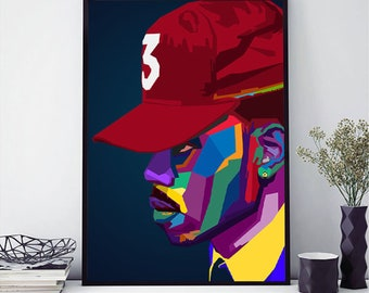 09752c4862311 Chance The Rapper Wpap Poster Matte Rapper Poster Wall Art Print Poster  Painting Home Decor