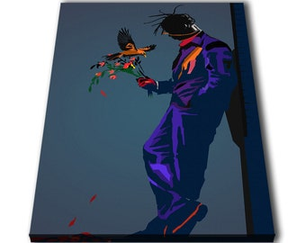 b4dbff404fb1 Travis Scott Rapper Banksy Flower Wpap Canvas Giclee Print Painting Picture  Wall Art Split Canvases Home Decorations, Gifts