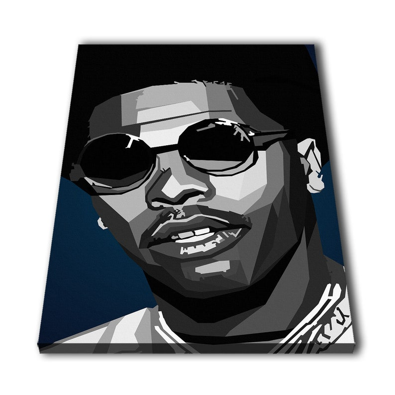 b32c0f75c1054 Lil baby Rapper Canvas Giclee Print Painting Picture Wall Art