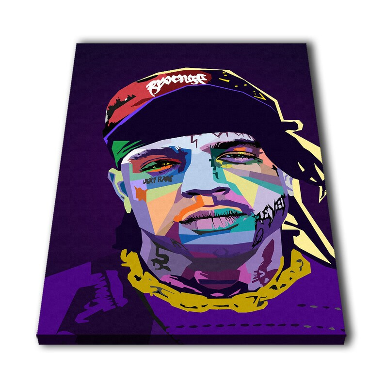 35542628e776 Ski Mask The Slump God Rapper Canvas Giclee Print Painting | Etsy