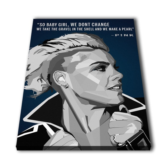 P!nk Quotes Pink Canvas Giclee Print Painting Picture Wall Art Split  Canvases Home Decorations, Gifts