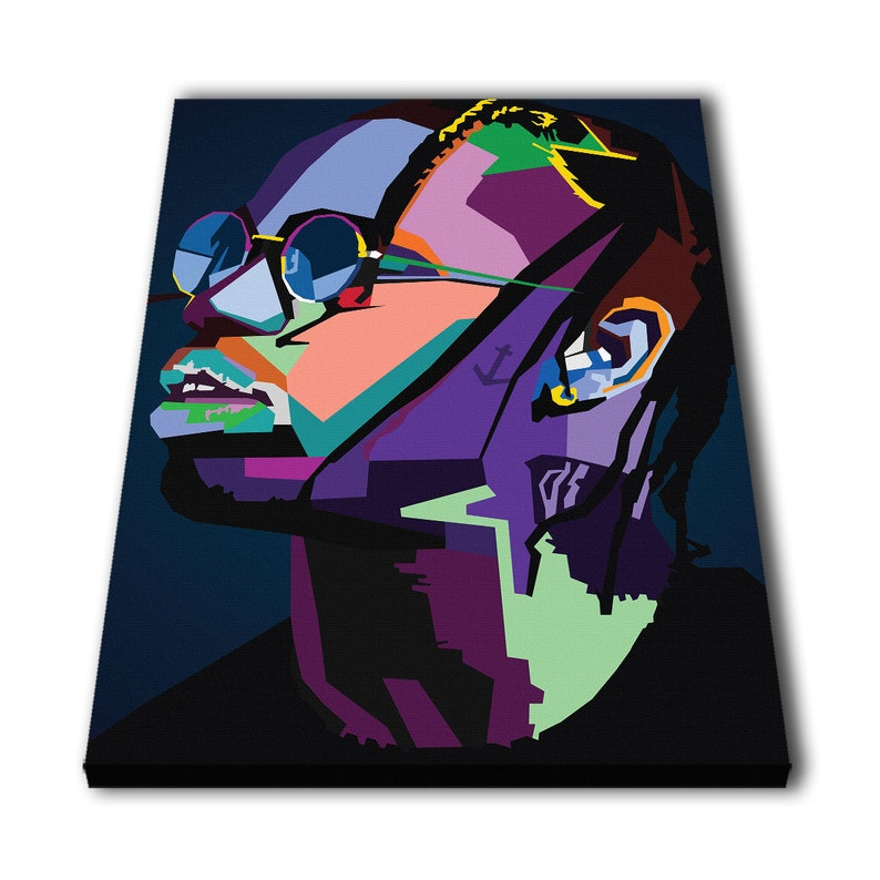 2098fec3e06d Travis Scott Wpap Canvas Giclee Print Painting Picture Wall | Etsy
