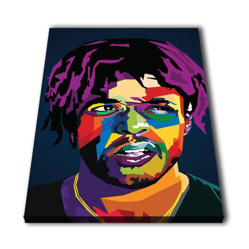 Lil Uzi Vert Portrait  Print Print Rapper Art Hip Hop