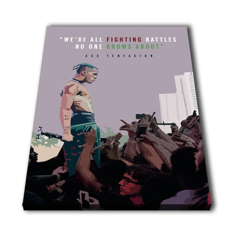 Xxxtentacion Rapper Quotes Canvas Material Giclee Print Etsy