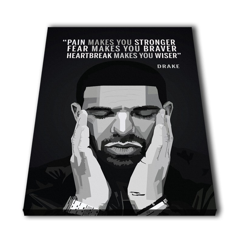 "Drake Black and White Music Poster 24x36/"" Print Glasses"
