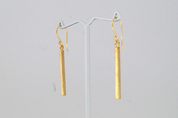 Rectangular Stick gold Plated Earring