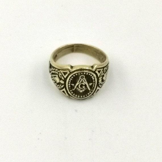 Masonic Signet Ring Brass