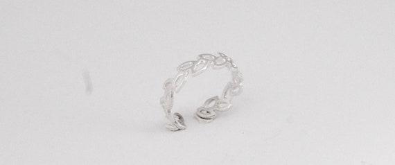 Adjustable Leaf Ring 925 Silver Ring Adjustable, Matte Finishing