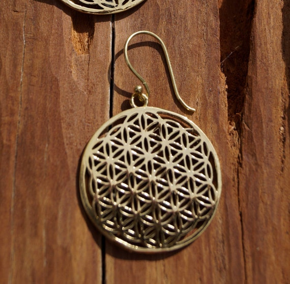 Flower of Life Medium Brass