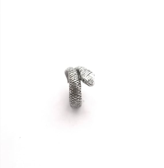 Detailed Snake Ring 925 Silver, Wrapped Snake Ring