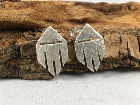 Abstract Mask 925 Silver Studs