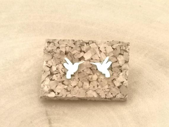 Tiny Hummingbird Studs 925 Silver