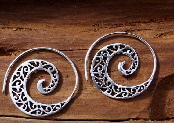 "Boho Earrings ""Classic Spiral"" Silver"