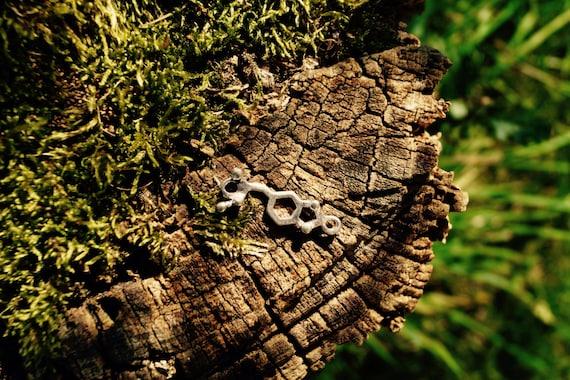 MDMA Necklace Small, MDMA Molecule, Molecular Structure MDMA