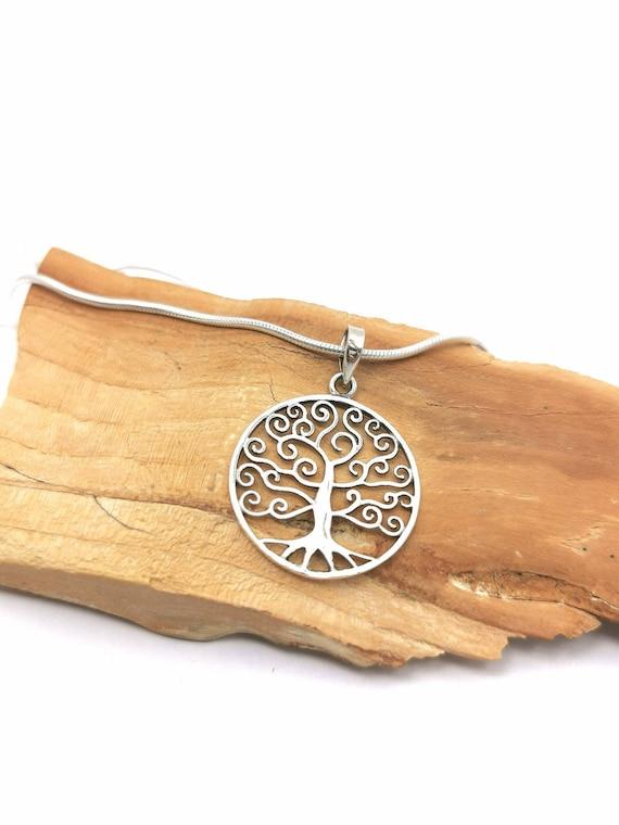 Tree of Life Pendant 925 Silver, Yggdrasil Pendant, Magic Tree Pendant