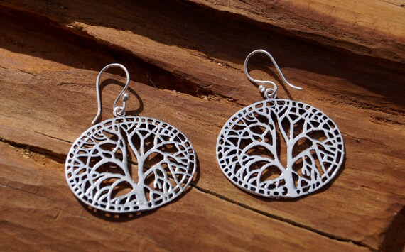 Tree of Life Earrings Silver, Yggdrasil Earrings