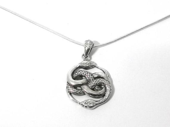 Auryn 925 Silver Pendant Small/Big, Ouroboros Pendant, Snake Pendant, Infinity Snake Pendant