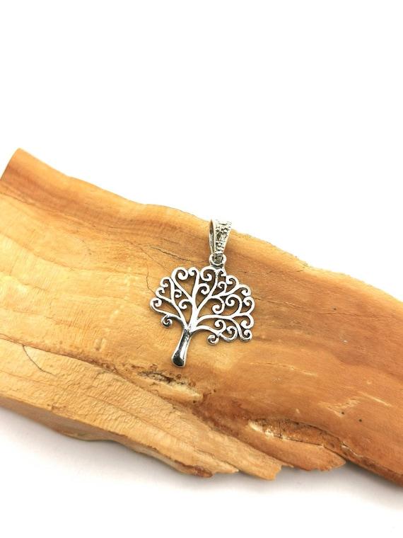 Tree of Life Pendant 925 Silver, Yggdrasil Pendant, Tree Pendant Silver, Mystic Tree Pendant