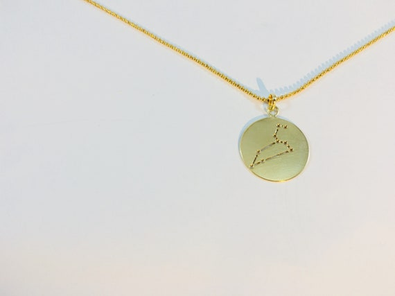 Star constellation Leo necklace