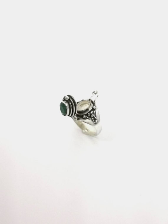 Roman Poison Ring 925 Silver, Ring with Secret chamber