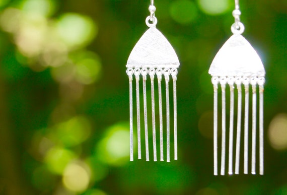 Pachamama Silver minimal earrings