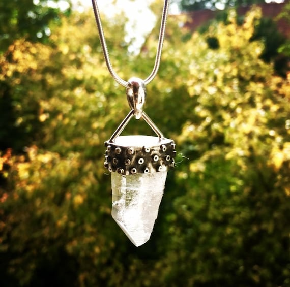 Crystal Silver Pendant