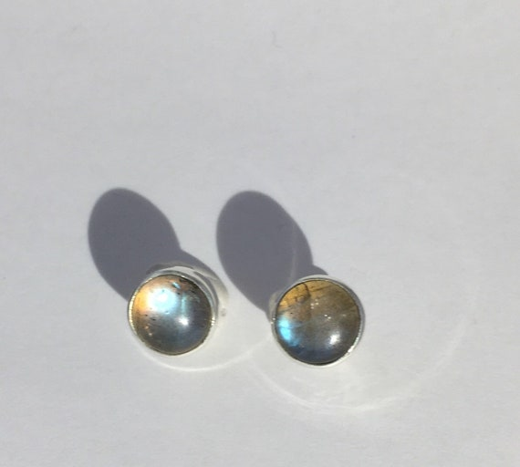 Labradorite silver studs