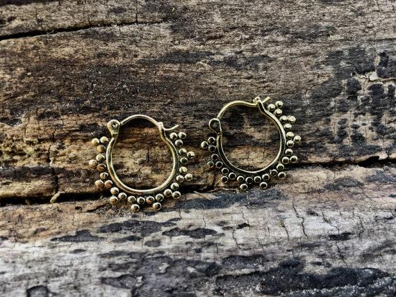 """Boho Earrings """"Classic Hoop"""" Small Brass"""