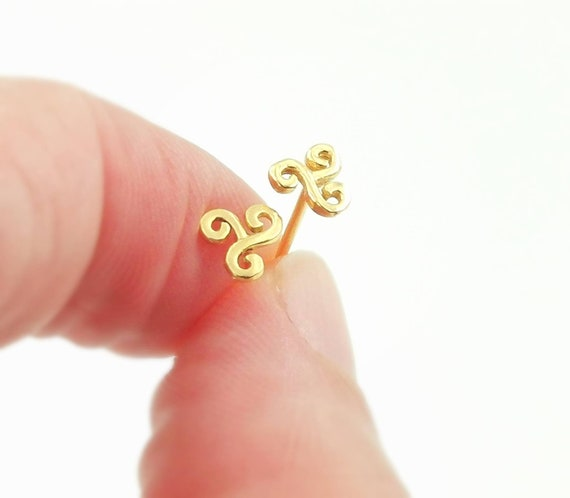 Triskele Studs 18K Gold Plated 925 Silver