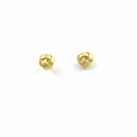 Classic 18k Gold Plated 925 Silver Knot Studs