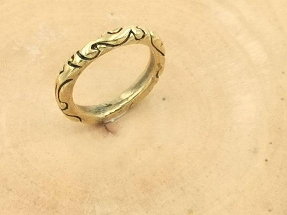 Golden Tribal Men Ring