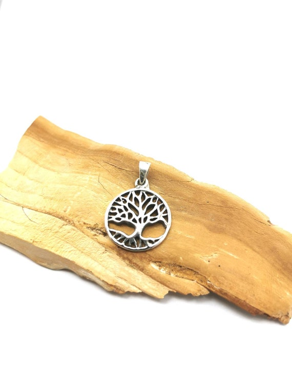 Tree of Life Pendant 925 Silver, Yggdrasil Pendant, Winter Tree Pendant, Silver Tree Pendant
