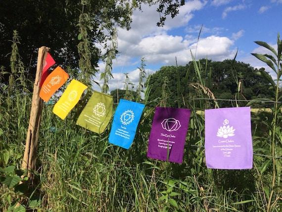 7 chakra rainbow flags
