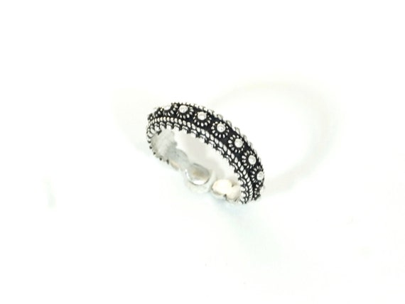 Classic Tribal 925 Silver Ring Adjustable, Vintage Ring, Open Tribal Ring