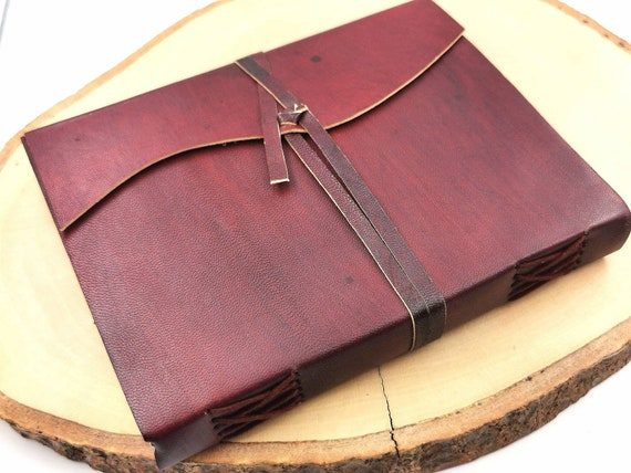 Handmade Camel Leather Notebook Plain 5x7 Inches, Travel Journal