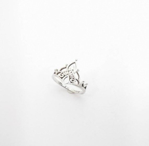 Classic Oriental Boho Ring 925 Silver/18K Gold Plated, Elegant Boho Ring