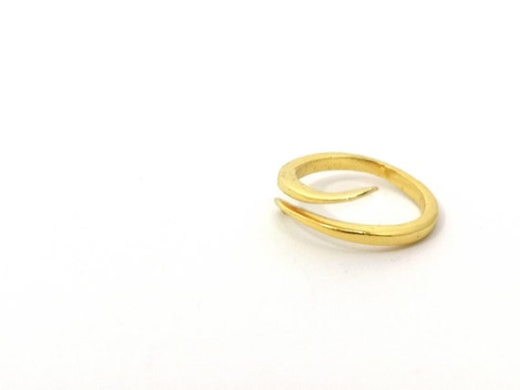 Open Elegant Gold Plated Ring, 925 Silver 18k Gold Plated Adjustable Ring